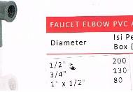 faucet elbow pvc aw