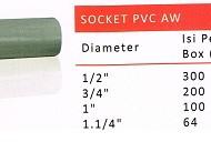 socket pvc aw