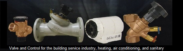 Valve_and_control_for_the_building_service_indutry heating air conditioning and sanitary