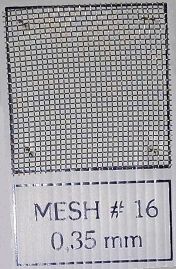 Mesh # 16 (0.35 mm) u1